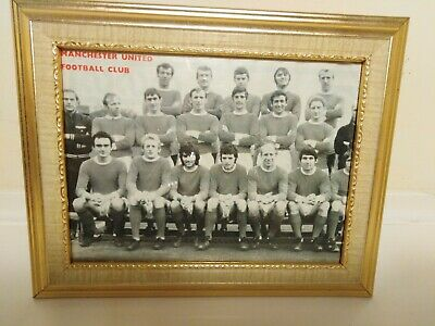 Framed Picture Of Manchester United 1960s Team