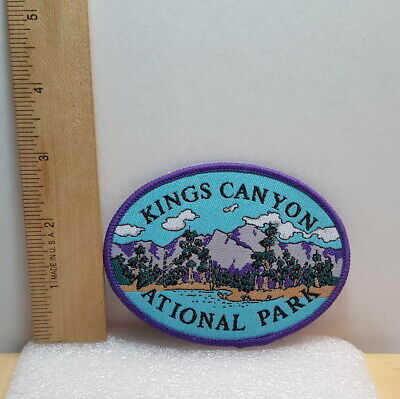 "Vintage KINGS CANYON National Park California 4"" Souvenir Collectible Patch - B"