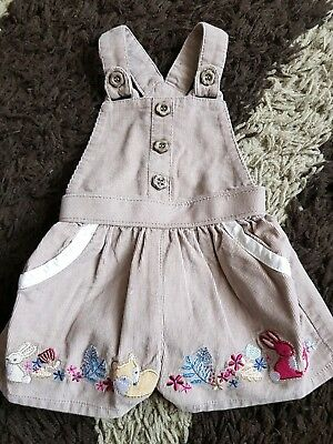 Brown Cord Woodland Short Dungarees 0-3 Months