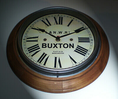 L&NWR London & North Western Railway Victorian Style Wooden Clock Buxton Station