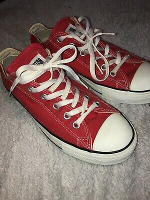 Converse All Star Unisex Chuck Taylor Mens Womens Low Tops Trainers Red Shoes