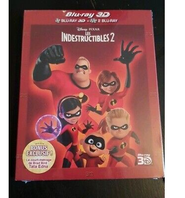 Les Indestructibles 2 Bluray 3D + Bluray Neuf Sous Blister