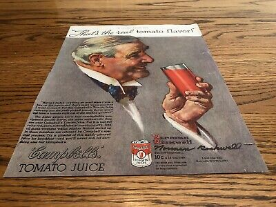 "Signed Norman Rockwell ""That's the real Tomato Flavor"" The Saturday Evening Post"