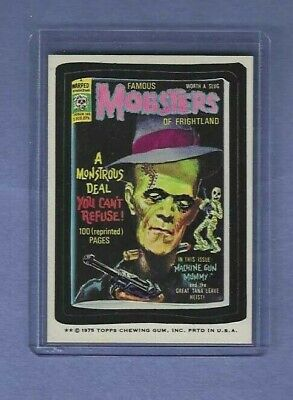 Wacky Packages 1975 Famous Mobsters Nmmt/Nmmt+