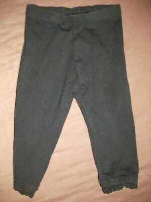 Next Baby Girls Black Leggings with a Frilled Hem - Age 6-9 Months