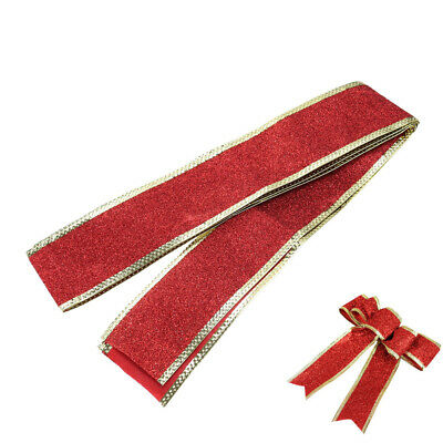 2M Sparkle Glitter Ribbon Xmas Wedding Ornaments Decorations Red/Gold/Silver