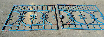 Antique Wrought Iron Driveway Gates Garden Estate Country Salvage