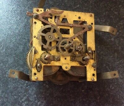Vintage Mantel Clock Movement For Spares Or Repair