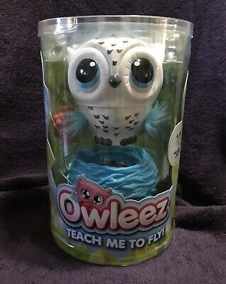 Owleez Flying Baby Owl Interactive Toy with Lights & Sounds (White) New In Hand