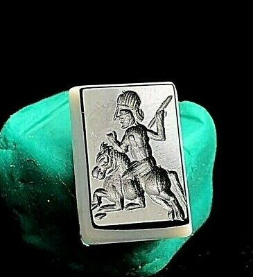 Authentic Original Meso Ancient Agate Intaglio Arab King on horse Seal stamp