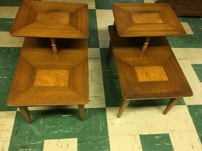 1950s Mid-Century Modern Lane End Tables - a Pair