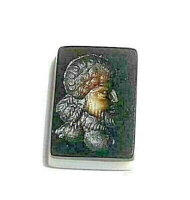 Authentic Original Meso Ancient Agate Intaglio Arab King Full Outift Seal stamp