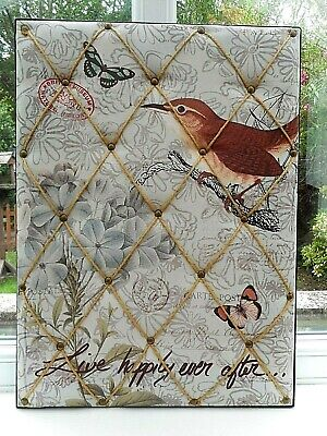 British Museum Natural History Padded Fabric Message Board With Diagonal Strings