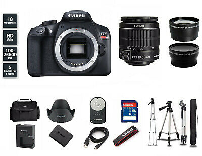 NEW Canon EOS Rebel T6 DSLR Camera with 18-55mm Zoom Lens (3 LENSES) + Tripod