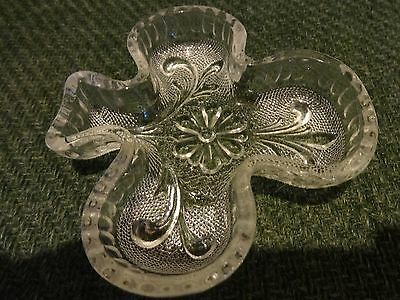 Shamrock Shaped Glass Dish For Candy Or Trinkets