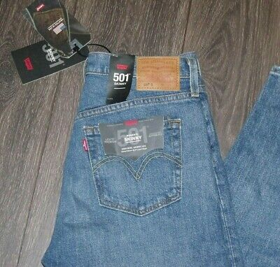 NWT Levi's 501 Skinny LADIES Jeans 29x28 Made in USA Levi Strauss Premium