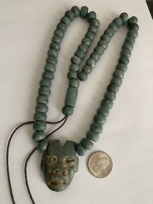 precolumbian  Olmec stone necklace