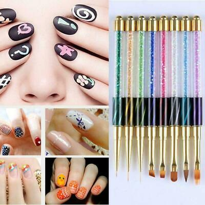 Nail Art UV Gel Liner Painting Gradient Brush Art Pens Tools Nail Manicure G7Q7