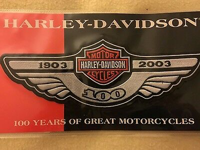 Harley Davidson 100th Year Wing Logo Patch