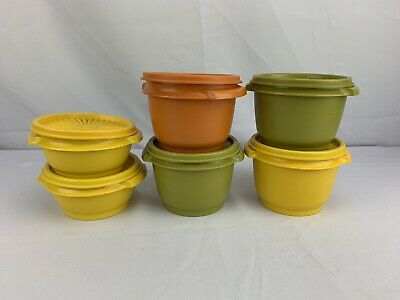 Vintage Tupperware Servalier Bowls 886 and 1323 Lot of 6