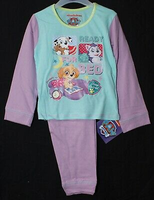 Girls PAW PATROL Pyjamas/ Mint & Lilac Long-Sleeved PJs NWT 18 Months-5 Years