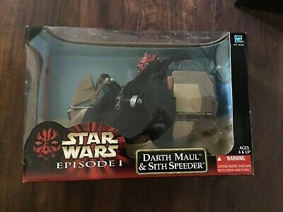 Darth Maul Star Wars: Episode 1 With Sith Speeder Large Doll Action Figure NIB