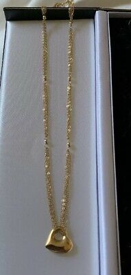 14k Yellow Gold Heart Pendant With 14k Gold Multi Chain Necklace HANA 3.80gr.