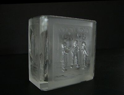 Art Deco Heinrich Hoffmann Bohemian Frosted Cut Glass Cigarette Card Holder 1930