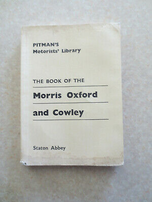 Morris Oxford & Cowley car servicing book - Pitmans Motorists Library