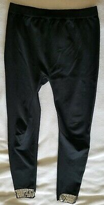 Target Girls Black Leggings with Sequins Size S