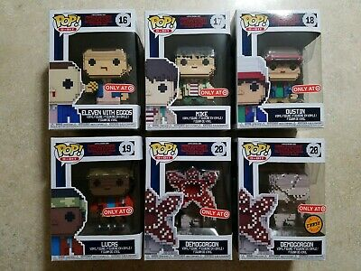 Funko POP! Stranger Things: Eleven, Mike, Dustin, Lucas,  Demogorgon + Chase Lot