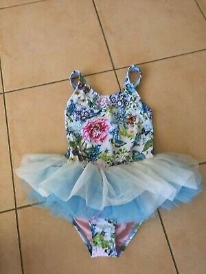 Rock Your Baby Country Garden  Tulle One Piece Costume   Sz 7  Bnwt