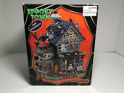 Lemax Spooky Town Halloween Creepy Neighborhood House Light Lamp in OB Retired