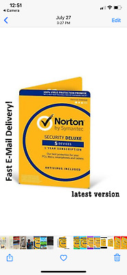 🔥 Norton by Symantec Security Deluxe 5 Devices in seconds email  delivery 🔥