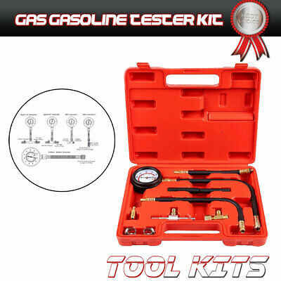 NEW Fuel Injection Compression Gauge of Petrol  Pressure Tester Kit US Tool