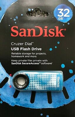 Sandisk Cruzer Dial 16GB 32GB 64GB usb 2.0 memory stick flash pen thumb drive