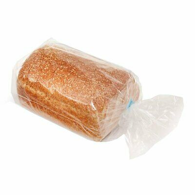 100 Poly Bakery Bread Bags 5.5 x 4.75 x 15 Clear Gusseted Bags 5