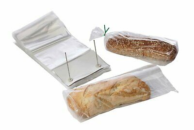 100 Poly Bakery Bread Bags 14 x 24 + 3 Lip Clear Bags on Wicket