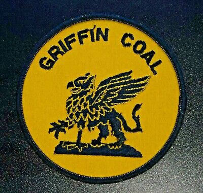 Sew On Griffin Coal Mining Badge Same As The Sticker