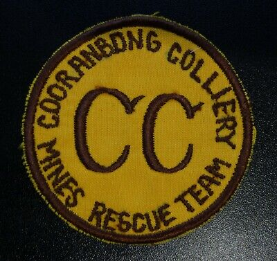 Sew On Cooranbong Colliery Mining Badge Same As The Sticker