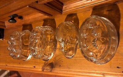 Four Vintage Glass Jelly Moulds