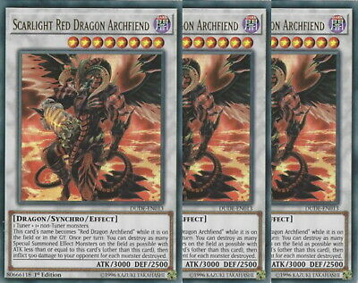 Yugioh Scarlight Red Dragon Archfiend X3 Ultra DUDE 1st Ed Mint Playset
