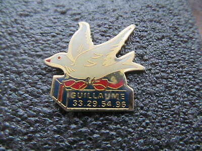 White Dove of Peace With Olive Branch Enamel Badge Religious// Military Symbol