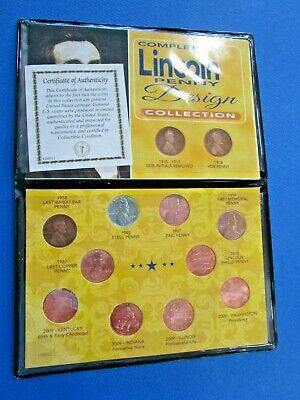 Lincoln Penny Collection Cents Old Vintage US Coins Collectibles 12 Designs