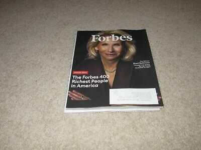Forbes magazine, October 2019, the Forbes 400 Richest People in America
