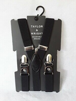 Black Adjustable Braces One Size Taylor And Wright New