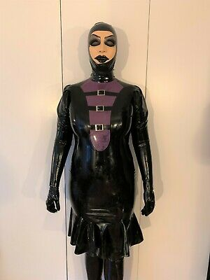 Latex Kleid chloriert angedeuteter Schnürung - Libidex in Gr. 42