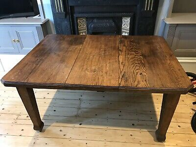 Solid Oak Antique Dining Table Late Victorian Arts & Crafts