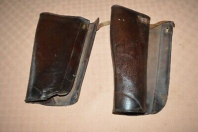 French 1920s brown leather gaiters/chaps