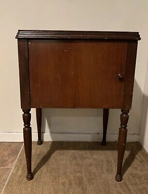 Vintage 1941 Singer Wooden Sewing CABINET ONLY Walnut Model A836806 USED